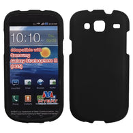 For I425 Galaxy Stratosphere III Black Phone Protector Cover (Rubberized)