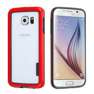 For G920 Galaxy S6 Black/Solid Red MyBumper Phone Protector Cover