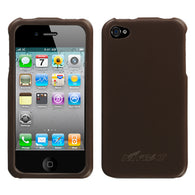 For iPhone 4s/4 Brown Executive Hard Back Protector Cover Case