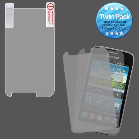 2x LCD Screen Cover Protector Film Cloth Wipe SAMSUNG L300 Galaxy Victory 4G LTE