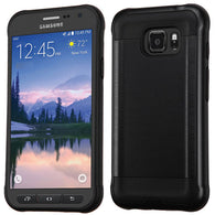 For Samsung Galaxy S7 Active Brushed Impact Armor Hybrid Protector Case Cover