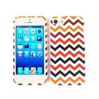 Chevron Zig Zag Black/Red Hard Slim Protector Cover Case for iPhone 5