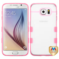 For G920 Galaxy S6 Glassy Transparent Clear/Transparent Pink Gummy Cover