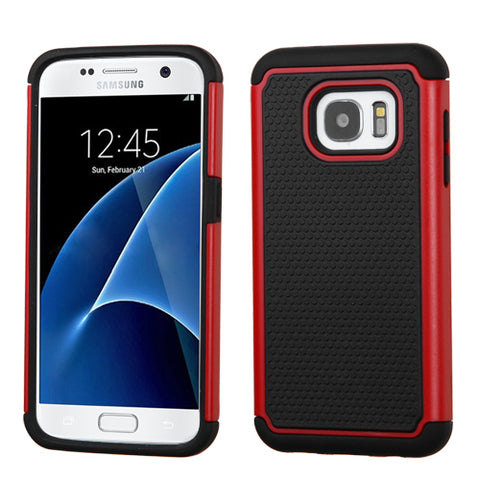 For Samsung Galaxy S7 Total Defense Hard Silicone Armor Protector Case Cover