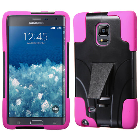 For N915T Galaxy Note Edge Hot Pink Inverse Advanced Armor Stand Protector Cover