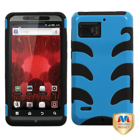 For XT875 Droid Bionic Natural Turquoise Fishbone Phone Protector Cover