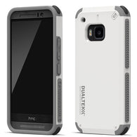White/Gray PureGear Dualtek Extreme Impact Protector Cover Case for HTC One M9