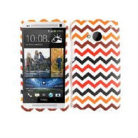 Chevron Zig Zag Black/Red Hard Slim Protector Cover Case for HTC One/M7