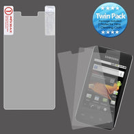 2x LCD Screen Cover Protector Film Cloth Wipe for SAMSUNG: M820 (Galaxy Prevail)