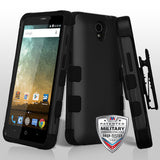 For ZTE Zfive 2/Prestige 2 TUFF Hybrid Impact Protector Case Cover w/Holster