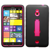 For Lumia 1320 Hot Pink/Black Symbiosis Stand Protector Cover