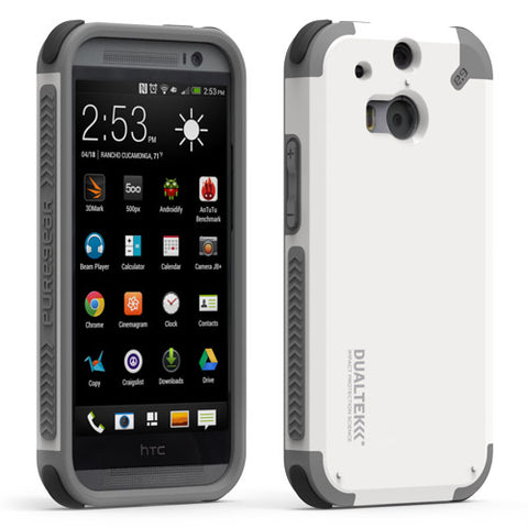 White PureGear Dualtek Extreme Impact Protection Cover Case for HTC One M8