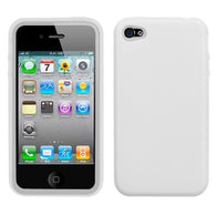 Asmyna Solid Silicone Skin Cover Case for iPhone 4 4S