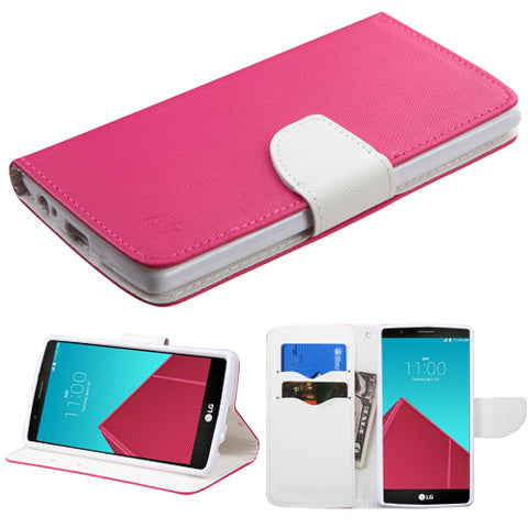 For G4 Hot Pink Pattern/White Liner MyJacket wallet (with card slot)