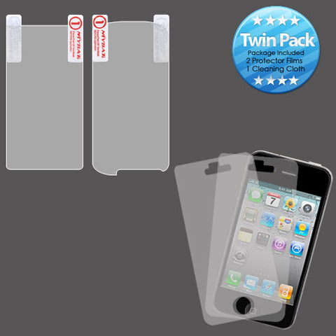 2x LCD Screen Cover Protector Film with Cloth Wipe for LG US760 Genesis