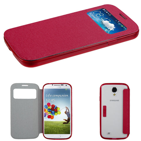 For Galaxy S4 SHot Pink MyJacket (with Hot-Pink/T-Clear Gummy Cover Tray)