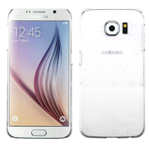 For G920 Galaxy S6 Transparent White Gradient Water Drop Back Protector Cover