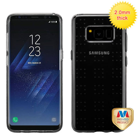 For Samsung Galaxy S8 Glassy SPOTS Protective Silicone Candy Skin Case Cover