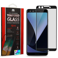 For Google Pixel 3 Full Coverage Tempered Glass Screen Protector Clear/Black