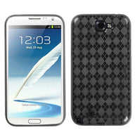Argyle Patterned Silicone Skin Protector Case for Samsung Galaxy Note 2 T889