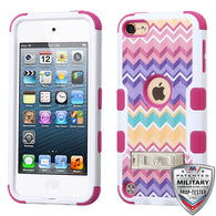For iPod Touch 5th / 6th Gen Camo Wave/Hot Pink TUFF Hybrid Protector Case Stand