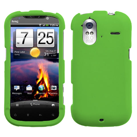 For Amaze 4G Dr Green Rubberized Phone Protector Cover Case