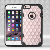 For iPhone 6s Plus/6 Plus Clear Honeycomb/Black Challenger Protector Cover