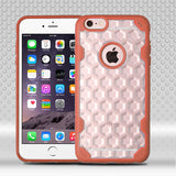 For iPhone 6s Plus/6 Plus Clear Honeycomb/Orange Challenger Protector Cover