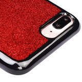 For iPhone 7 / 8 Plus Red Glittering/Silver Stars/Black Gel Candy Skin Cover
