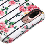 For iPhone 7 / 8 Plus Pink Fresh Roses Candy Skin Shell Protective Case Cover
