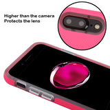 For iPhone 7 / 8 Plus Electric Pink Dots Textured/Clear Fusion Case Cover