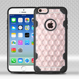 For iPhone 6s/6  Clear Honeycomb/Black Challenger Hybrid Protector Case Cover