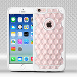 For iPhone 6s/6  Clear Honeycomb/Solid White Challenger Hybrid Protector Cover