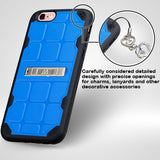 For iPhone 6s/6 Natural Dark Blue/Black DefyR Hybrid Protector Cover w/Stand