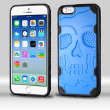 For iPhone 6s/6 Natural Dark Blue/Black DefyR Hybrid Protector Cover-Skullcap