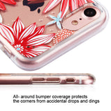 For iPhone 7 / 8 Spring Daisies Glassy SPOTS Premium Armor Candy Skin Cover