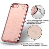 For iPhone 7 / 8 Rose Gold Glassy SPOTS Electroplated Premium Candy Skin Cover
