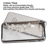 For iPhone 7 / 8 Silver Glassy Spring Flowers Electroplated Candy Skin Cover