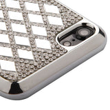 For iPhone 7 / 8 Silver Rhombus Rhinestones Desire Candy Skin Shell Cover Case