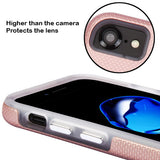 For iPhone 7 / 8 Rose Gold Dots Textured/Transparent Fusion Protector Cover