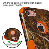 For iPhone 7 TUFF Design Shockproof Hybrid Phone Protector Case Cover