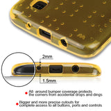 For LG Treasure LTE/Escape 3/K8/Tribute 5/K7 Glassy Gold SPOTS Candy Skin Cover