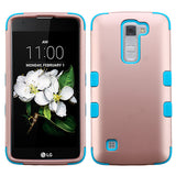 For LG Treasure/Tribute/K7 Rose Gold/Tropical Teal TUFF Phone Protector Cover
