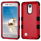 For LG K4/Phoenix 3/K8/Aristo Natural Red/Black TUFF Hybrid Phone Protector Case
