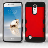 For LG K4/Fortune/K8/Phoenix 3 Titanium Red/Black Trooper Hybrid Protector Cover