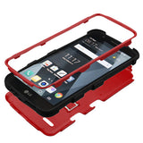 For LG Stylo 3 Natural Red/Black TUFF Hybrid Phone Protector Cover w/Stand