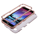 For LG Harmony/K10/K20 Plus/V5 Rose Gold/Rose Gold TUFF Hybrid Protector Cover
