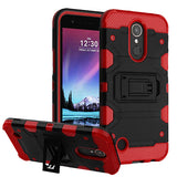For LG Harmony/K10/K20 Plus/V5 Black/Red Storm Tank Hybrid Protector Case Cover