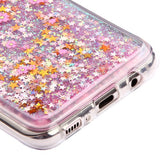 For Samsung Galaxy S8 Plus Falling Sakura/Pink Quicksand Stars Glitter Cover