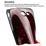 For Samsung Galaxy J3/Emerge/Sol2 Red Starry Sky Black Bling Gel Candy Skin Case